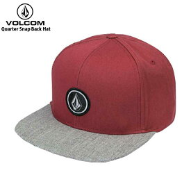 VOLCOM ボルコム メンズ キャップ Quarter Snap Back Hat BUR D5511561 【クエストン】