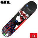 GIRL ガール デッキ X HELLO KITTY BRANDON BIEBLE DECK 8.0 スケートボード スケボー