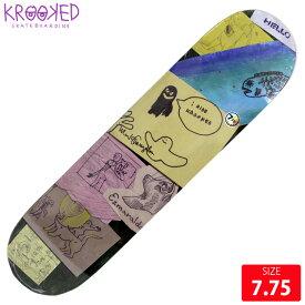 KROOKED クルーキッド デッキ GONZ MY SHAP DECK 7.75 スケートボード SKATEBOARD クルックド
