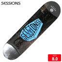 SESSIONS セッションズ スケボー デッキ スケートボード COFFIN 8.0 GREY/BLUE 【クエストン】