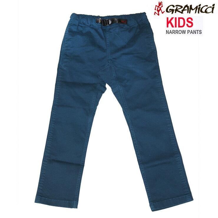 Gramicci グラミチ キッズ ナロー パンツ 100-130cm KIDS NARROW PANTS SEA BLUE ジュニア ズボン 18FW