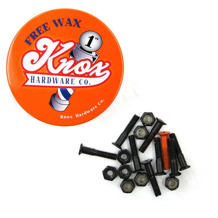 スケボー ビス KNOX ノックス SCREW 8PCS/PACK (#1) プラス ORANGE スクリュー スケートボード WAX付き