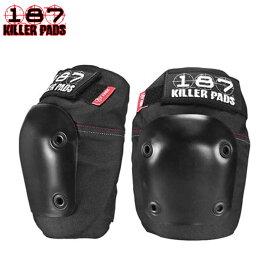 187 KILLER メンズプロテクター FLY KNEE PADS BLACK/BLACK 防具 スケートボード スケボー【クエストン】