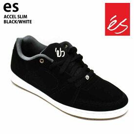 【在庫処分】es エス スケート スニーカー アクセル ACCEL SLIM BLACK/WHITE アクセル スリム スケシュー スケボーシューズ 18FW