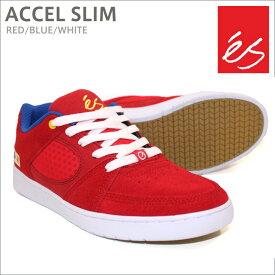 【在庫処分】es エス スケート スニーカー ACCEL SLIM RED/BLUE/WHITE アクセル スリム スケシュー スケボーシューズ