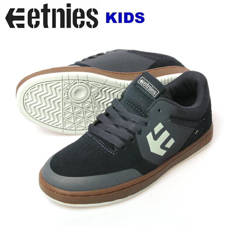 ETNIES エトニーズ KIDS MARANA NVY/GUM Suedo/Syn/Textile ジュニア キッズ スケボー スニーカー