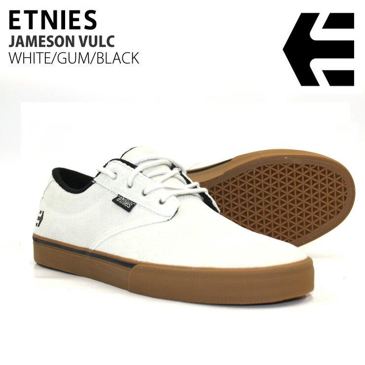 ETNIES エトニーズ スニーカー JAMESON VULC WHITE/GUM/BLACK スケボーシューズ スケシュー
