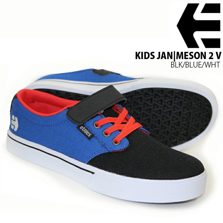 ETNIES エトニーズ KIDS JAMESON 2 V BLK/BLUE/WHT ジュニア キッズ スケボー スニーカー 新作