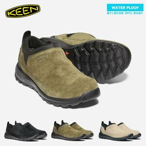 KEEN キーン メンズ グリーザー モック ウォータープルーフ 防水スニーカー 靴 紐なし 防水 スウェード 履きやすい ラク 【クエストン】