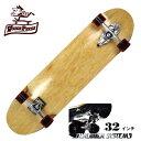 【お買い得】WOODY PRESS ウッディプレス サーフスケート スラスター3 コンプリート 32インチ NATURAL ロングスケボー…