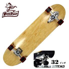【お買い得】WOODY PRESS ウッディプレス サーフスケート スラスター3 コンプリート 32インチ NATURAL ロングスケボー スケートボード ロンスケ カービング 【クエストン】