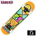 スケボー コンプリート KROOKED クルーキッド SHMOOZER SM 7.5インチ KKC-002-s 完成品 組立て済 スケートボード