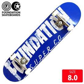 【お買い得】スケボー コンプリートセット ファンデーション FOUNDATION THRASHER BLUE SIZE 8.0 完成品 スケートボード 【クエストン】