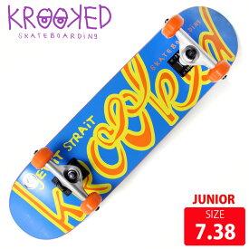 KROOKED クールーキッド ジュニア コンプリート KROOOKLOW MINI DECK 7.38 インチ KKC-011 完成品 組立て済 スケートボード スケボー