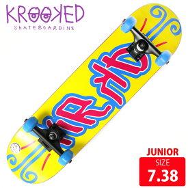 KROOKED クールーキッド ジュニア コンプリート KD MINI DECK 7.38 インチ KKC-012 完成品 組立て済 スケートボード スケボー