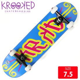 KROOKED クールーキッド コンプリート KD SM DECK 7.5 KKC-012 完成品 組立て済 スケートボード スケボー