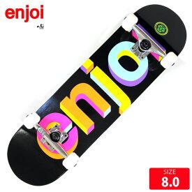 スケボー コンプリート エンジョイ ENJOI Helvetica Nue-Neon Spectrum COMPLETE 8.0 スケートボード 完成品【クエストン】