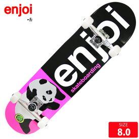 スケボー コンプリート エンジョイ ENJOI Harf and Harf Pink COMPLETE 8.0 スケートボード 完成品【クエストン】