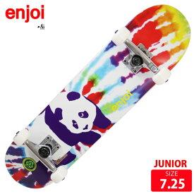 ジュニア スケボー コンプリート エンジョイ ENJOI Tie Dyel MID KIDS COMPLETE 7.25 スケートボード 完成品【クエストン】