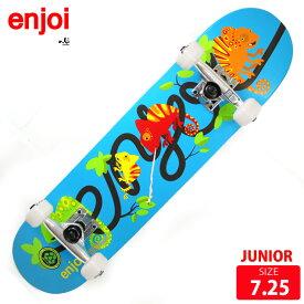 ジュニア スケボー コンプリート エンジョイ ENJOI interwinded Blue MID KIDS COMPLETE 7.25 スケートボード 完成品【クエストン】