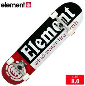 スケボー コンプリート エレメント ELEMENT SECTION BLACK COMP DECK 8.0 コンプリ 完成品 スケートボード 【クエストン】