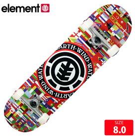 スケボー コンプリート エレメント ELEMENT SEAL FLAG COMP DECK 8.0 コンプリ 完成品 スケートボード 【クエストン】