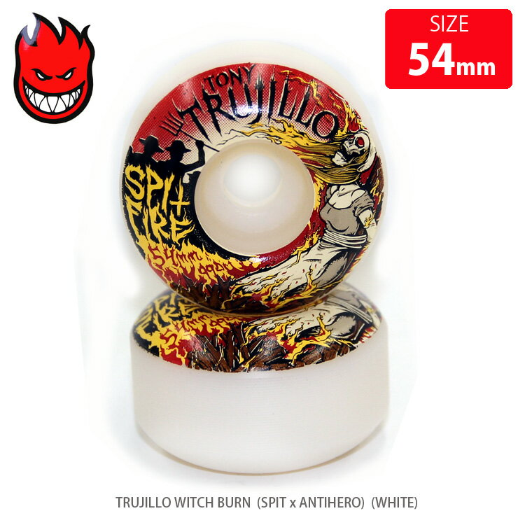 SPITFIRE スピットファイヤー ウィール TRUJILLO WITCH BURN SPIT x ANTIHERO WHITE SFW-771 54mm WHEEL クエストン
