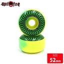 SPITFIRE WHEEL スピットファイヤー ウィール F4 99D 50-50 SWIRL(CLASSIC SHAPE)(GREEN/YELLOW)52mmスケートボード …