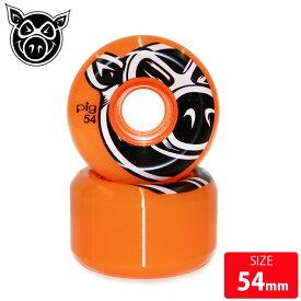 PIG WHEEL 3D CONICAL ORANGE 54mm PGW-060 ピッグ スケボー スケートボード ウィール 【クエストン】