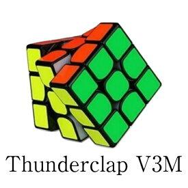 ☆安心保証あり☆ \正規販売店/ Thunderclap 3x3x3 V3 M ブラック QiYi 磁石内蔵 3x3x3競技用 スピードキューブ ルービックキューブ 知育玩 具学習玩具