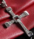 ジュエリーメーカー製で ワイルドスピード ドミニク着用レプリカ クロスネックレス (シルバーチェーンタイプ クロス付…
