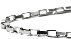 R-STYLE 襟元にキラリ輝く デザインチェーンタイプ ネックレス (ボックスホールド Φ2.5mm)/チェーン シルバー メンズ レディース ねっくれす ペアネックレス ギフト おしゃれ ワイルド