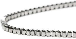 R-STYLE 襟元にキラリ輝く デザインチェーンタイプ ネックレス (ボックス Φ2mm)/チェーン シルバー メンズ レディース ねっくれす ペアネックレス ギフト おしゃれ ワイルド