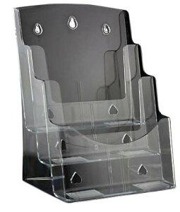 R-STYLE カタログ POP広告スタンド A4サイズ用 (縦型3段)/ポップスタンド 店舗用 什器 業務用 ポップ POP 販促用品 ディスプレイ 販促用品 ポップ立て