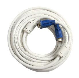 R-STYLE VGA ディスプレイ ケーブル D-Sub15ピン(ミニ)オス-D-Sub15ピン(ミニ)オス (15m)/フェライトコア付き プロジェクター ディスプレイ 接続 モニターケーブル D-Subケーブル