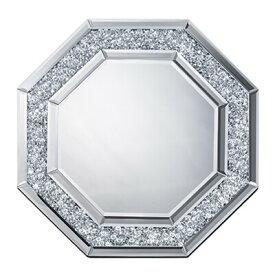 送料無料 八角ミラー ダイヤ 鏡 壁掛け 卓上 スタンド エレガント 卓上ミラー かがみ カガミ アンティーク クラシック サロン カフェ 玄関 おしゃれ インテリア