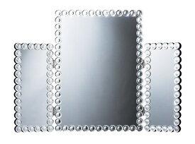 送料無料 三面鏡 卓上 メイクミラー 大きい 化粧鏡 ゴージャス エレガント 高級感 おしゃれ