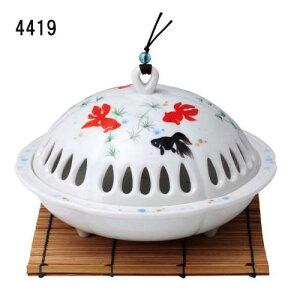 香炉風 金魚蚊遣器 陶器 蚊取り線香入れ 蚊遣り器 オブジェ 和雑貨 置物 飾り物 レトロ 和風 和モダン きんぎょ かわいい おしゃれ