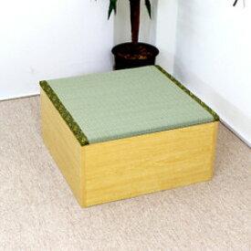 送料無料 高床式ユニット畳(半畳タイプ)ナチュラル 収納ボックス たたみベンチ 収納ベンチ 畳ユニット おもちゃ箱 畳ボックス 収納ボックス 大容量 和風