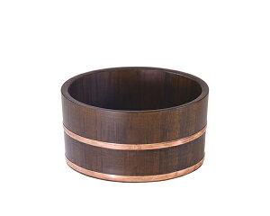 古代色 風呂桶(銅タガ・丸型) バス雑貨 日本製 木製 さわら 温泉 旅館 洗面器