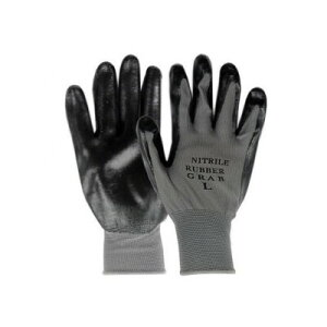 勝星産業 ニトリルグラブ(背ヌキ加工) 薄手タイプ 5双組 サイズ:M 黒 #660M 作業用手袋 すべり止め 滑りにくい ゴム手袋 通気性 蒸れにくい 背抜き