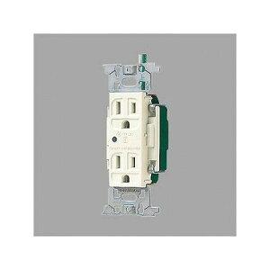 パナソニック フルカラー 医用接地ダブルコンセント 通電表示ランプ付 ミルキーホワイト 15A 125V WN13185K