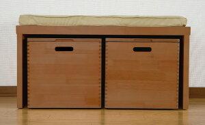 天然木 ベンチチェスト クッション付き 収納ベンチ 木製 幅80cm キャスター付き 収納ボックス いす イス スツールボックス 玄関 リビング ダイニング おもちゃ箱 おしゃれ