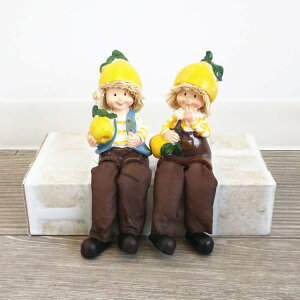 送料無料 ディスプレイ かわいい 置物 お座り人形 グレープフルーツ 2SET オブジェ インテリア インテリア雑貨 アンティーク オーナメント 飾り ガーデン ギフト 贈り物 プレゼント おしゃれ