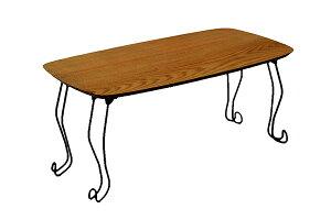 送料無料 折れ脚テーブル 幅80cm ブラウン 猫脚 ローテーブル コンパクト センターテーブル リビングテーブル 作業台 机 折りたたみ おしゃれ 北欧 シンプル 高級感 可愛い