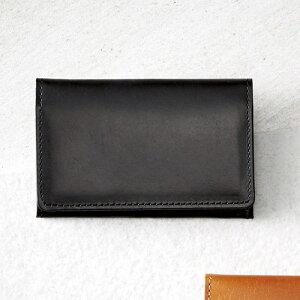 日本製 手塗りオイルレザー 名刺入れ ブラック 名刺ケース カードケース カード入れ 牛革 国産 黒色 シンプル ビジネス 大人 紳士向け 男性用 高級感