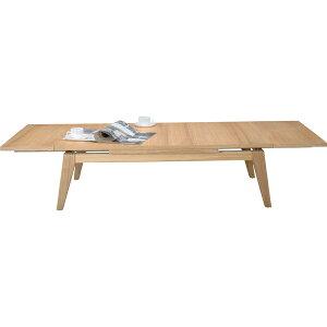 伸長式テーブル 幅120-180cm 座卓 伸縮テーブル エクステンションテーブル センターテーブル ローテーブル リビングテーブル コーヒーテーブル カフェテーブル 机 つくえ 作業台 木製 木目 モ