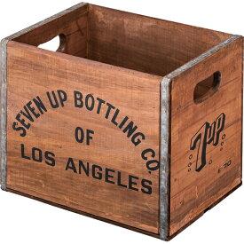 ウッドボックス L 木箱 収納ボックス 新聞ストッカー おもちゃ箱 ランドリーボックス 大容量 洗濯物入れ コンテナボックス 収納ケース レトロ モダン 北欧 ブルックリン 西海岸 男前 インテリア おしゃれ