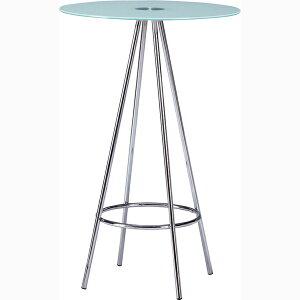サークルカウンターテーブル 幅60cm 高さ95cm 円型 丸型 スチール ガラス ハイテーブル カフェテーブル バーカウンター テーブル 作業台 つくえ 机 レトロ モダン 北欧 ブルックリン 西海岸 男