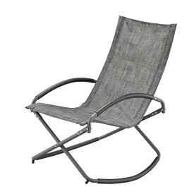 ロッキングチェア 折りたたみチェアー ガーデンチェア スチール アウトドア 折り畳み フォールディングチェア リラックスチェア イス 椅子 コンパクト収納 バルコニー カフェ テラス BBQ キャンプ アウトドア おしゃれ グレー